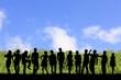 群衆とエコロジーイメージ