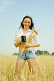 Girl  with kvass