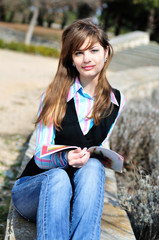 reading teen girl