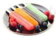 ice cream pops with berries