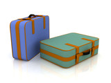 Suitcases isolated on white background