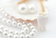 Healthy teeth concept. Real human wisdom tooth and natural pearl - 24660613