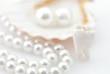 Leinwandbild Motiv Healthy teeth concept. Real human wisdom tooth and natural pearl