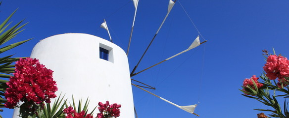 Moulin à vent à Paros - Cyclades - Grèce