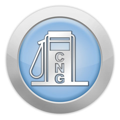 """Light Colored Icon """"Fuel Dispenser - Compressed Natural Gas"""""""
