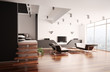 Modern apartment innenaufnahme 3d