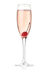 Rose champagne with maraschino