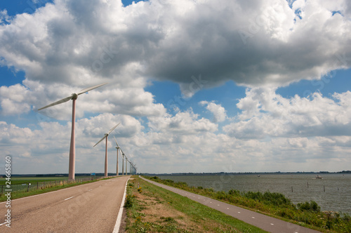 Dutch landscape in the polder