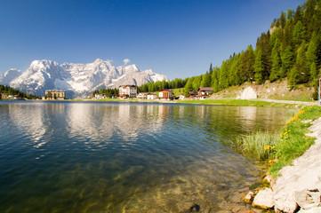 Lago di Misurina Südtirol Dolomiten See Bergsee alpen