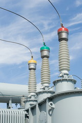 High-voltage substation equipments.