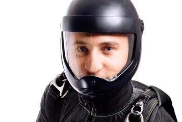 skydiver portrait