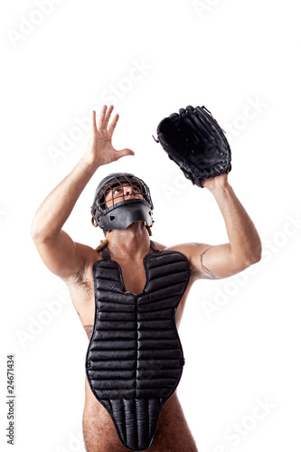 Nude Baseball Catcher