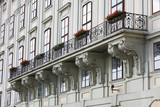 Balcony at the Hofburg in Vienna, Austria