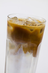 Cold coffee with milk