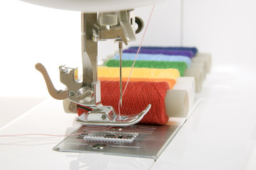 sewing machine and thread