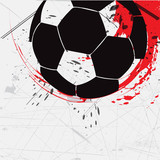 abstract grunge soccer background design