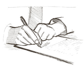 Vector illustration. Business document. Signature.