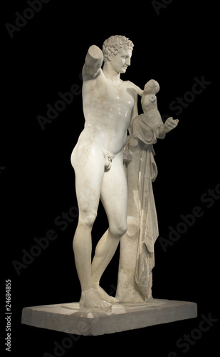 Hermes and Dionysus, ancient Greek statue of Praxiteles