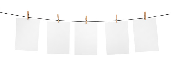 5 clean sheets on clothesline