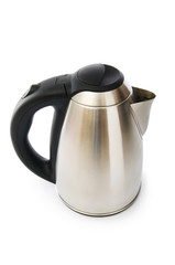 Shiny kettle isolated on the white background