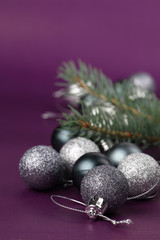 Silver Christmas ornements