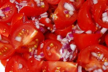 Fresh tomato-onion salad