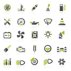 green car2 icons - set 13