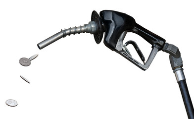 Gas nozzle pumping money