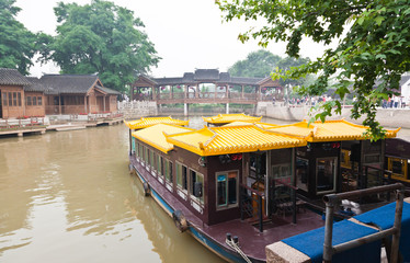 famous feng-qiao scenery area in Suzhou