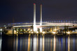View of Bolte bridge in Melbourne's docklands.