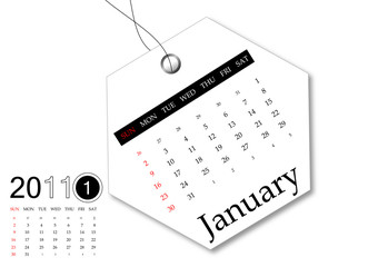 January of 2011 Calendar