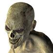 Zombiekopf mit bösen Blick