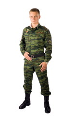 Sergeant of the Russian army. Tankman.