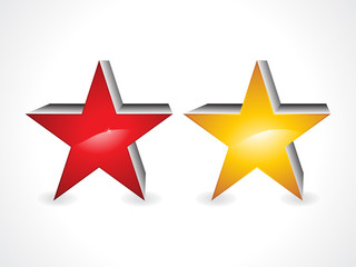 abstract 3d star icons