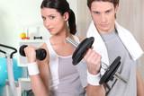 Fototapety Portrait d'un couple faisant du sport