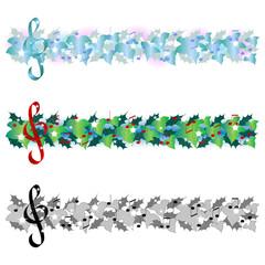 Christmas music - three banners