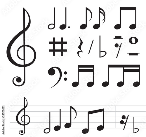 music notes basic - 24703021