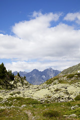 Scarljoch mit Blick auf Engadin - Südtirol, Italien