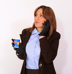 Woman talking on the cell phone