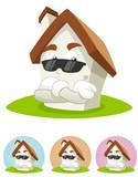 House Cartoon Mascot - the bodyguard poster
