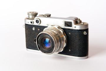 old black photo camera