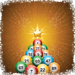Bingo ball Christmas tree