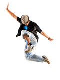 Fototapety Tänzer beim Sprung