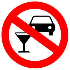 No drunk driving roadsign