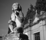 ancient figure on florentine cemetery, Italy poster