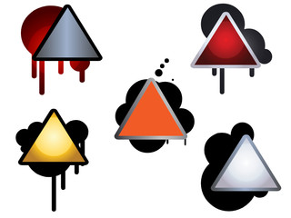 web icons  of signs with oil or paint spills