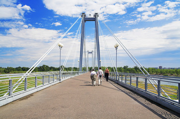 Cable-stayed footbridge, Krasnoyarsk