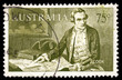 Old Australia postage stamp of Captain Cook