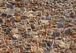 Leinwanddruck Bild - Alte Natursteinmauer