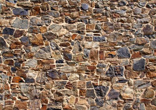 Leinwanddruck Bild Alte Natursteinmauer